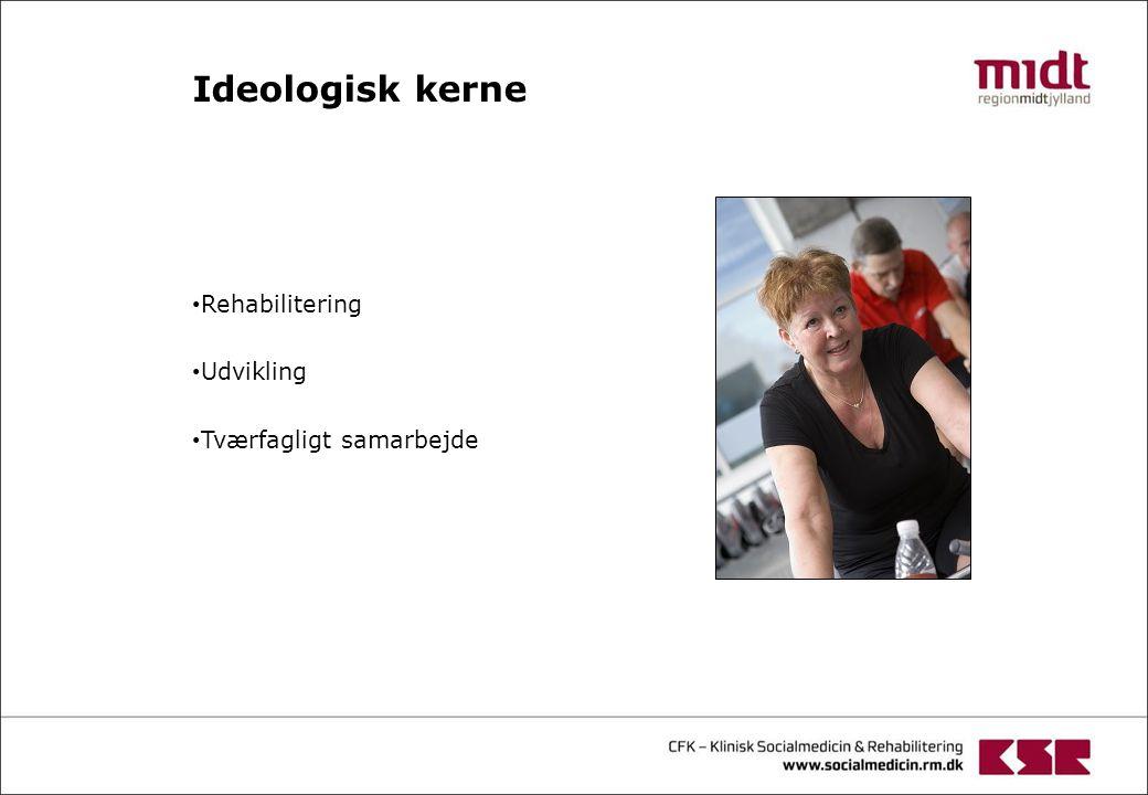 Rehabilitering Udvikling Tværfagligt samarbejde