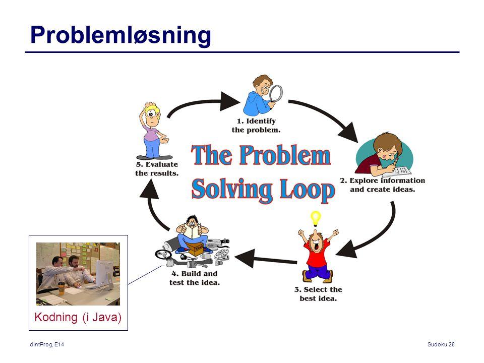 Problemløsning Kodning (i Java) dIntProg, E14
