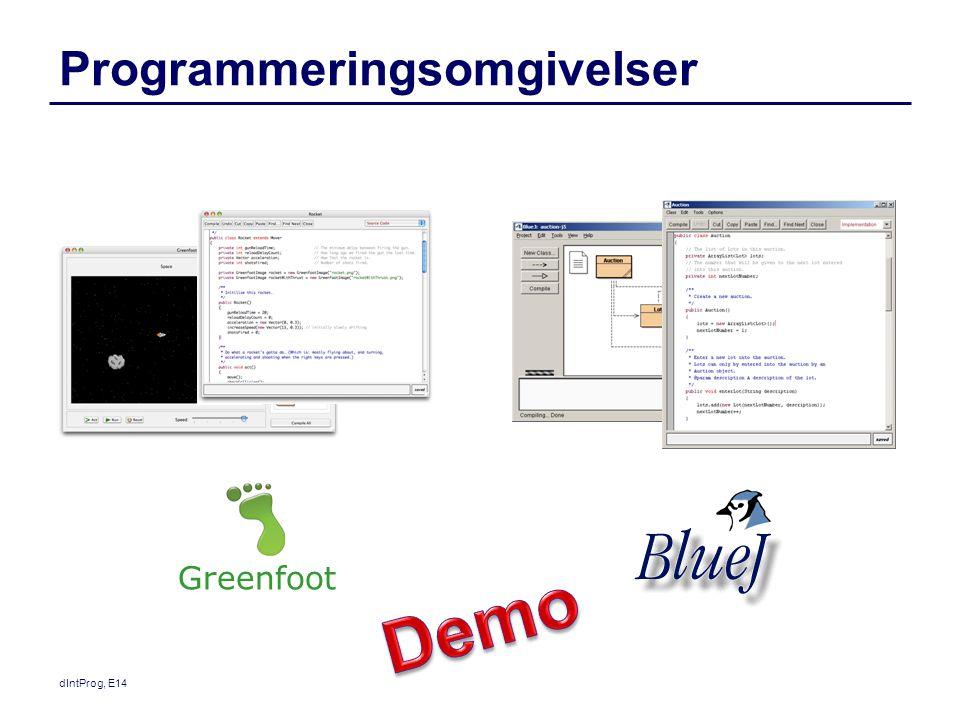 Programmeringsomgivelser