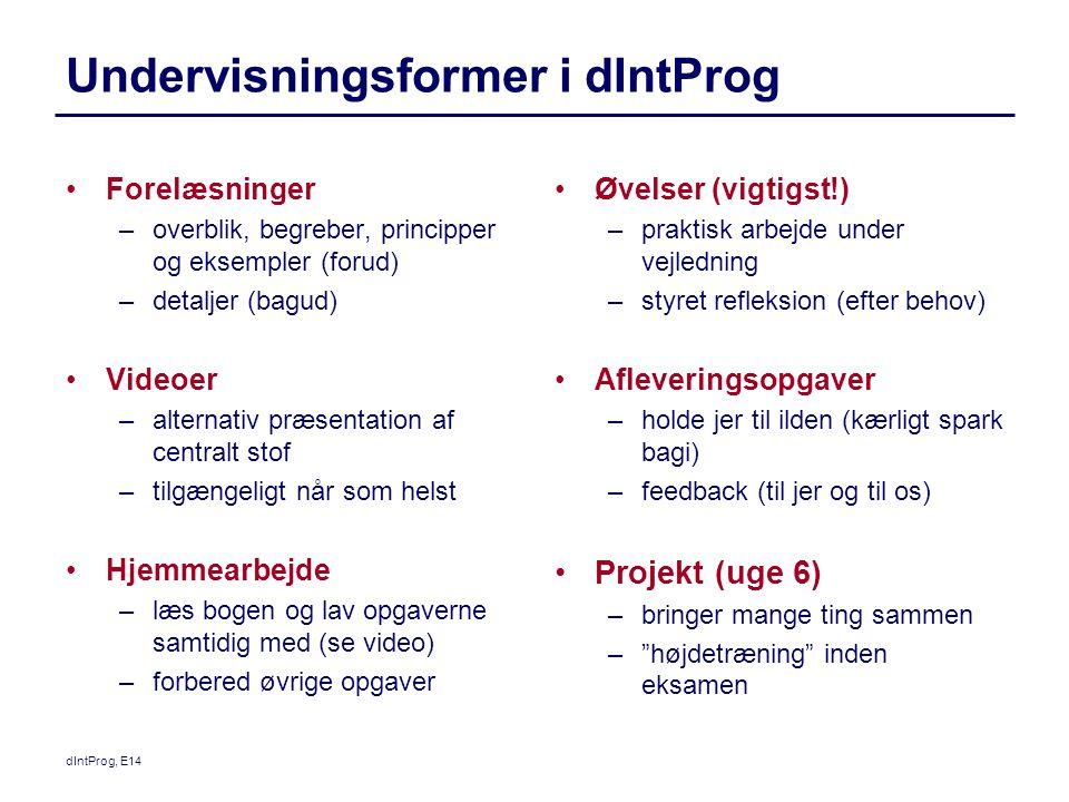 Undervisningsformer i dIntProg