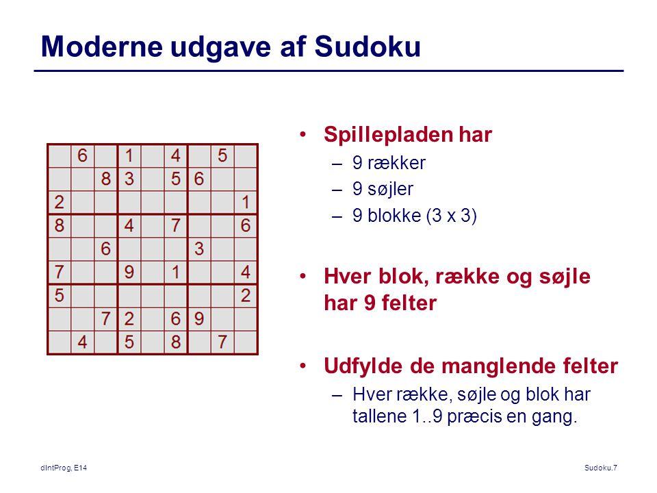 Moderne udgave af Sudoku