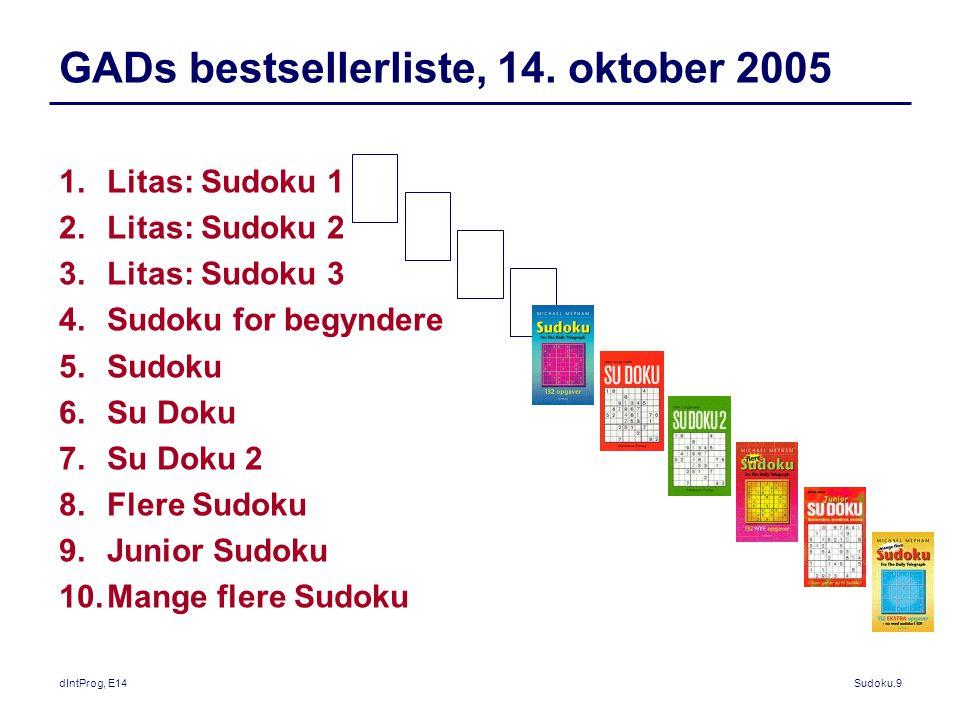 GADs bestsellerliste, 14. oktober 2005