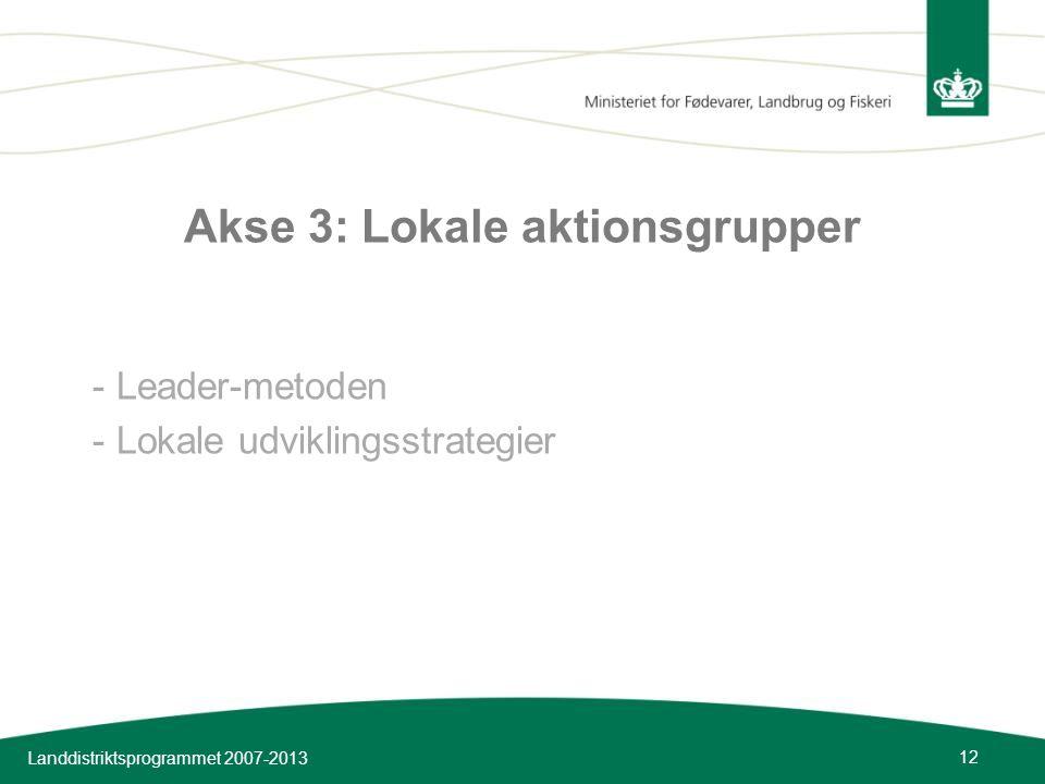 Akse 3: Lokale aktionsgrupper