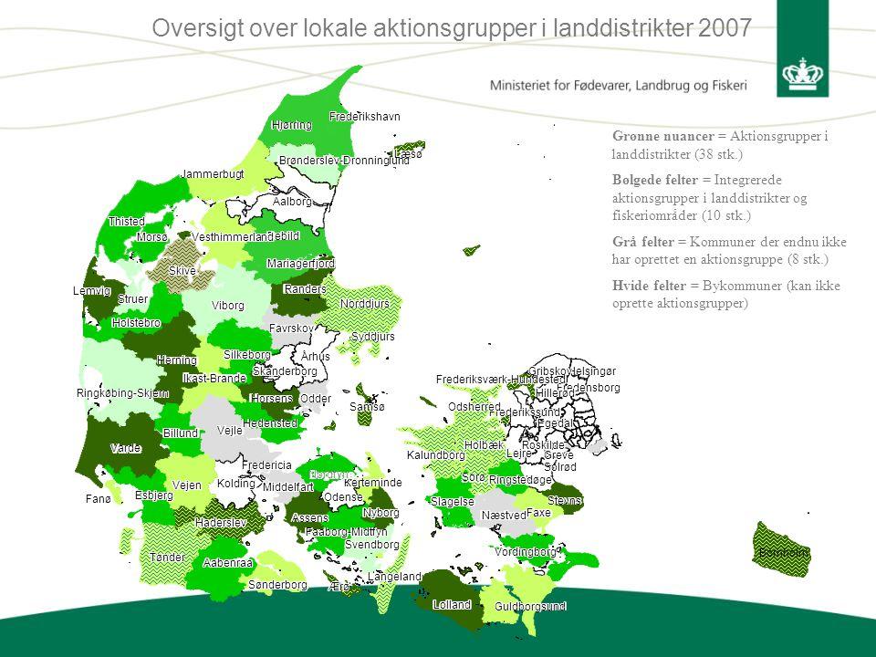 Oversigt over lokale aktionsgrupper i landdistrikter 2007