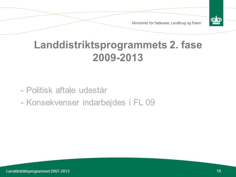Landdistriktsprogrammets 2. fase 2009-2013