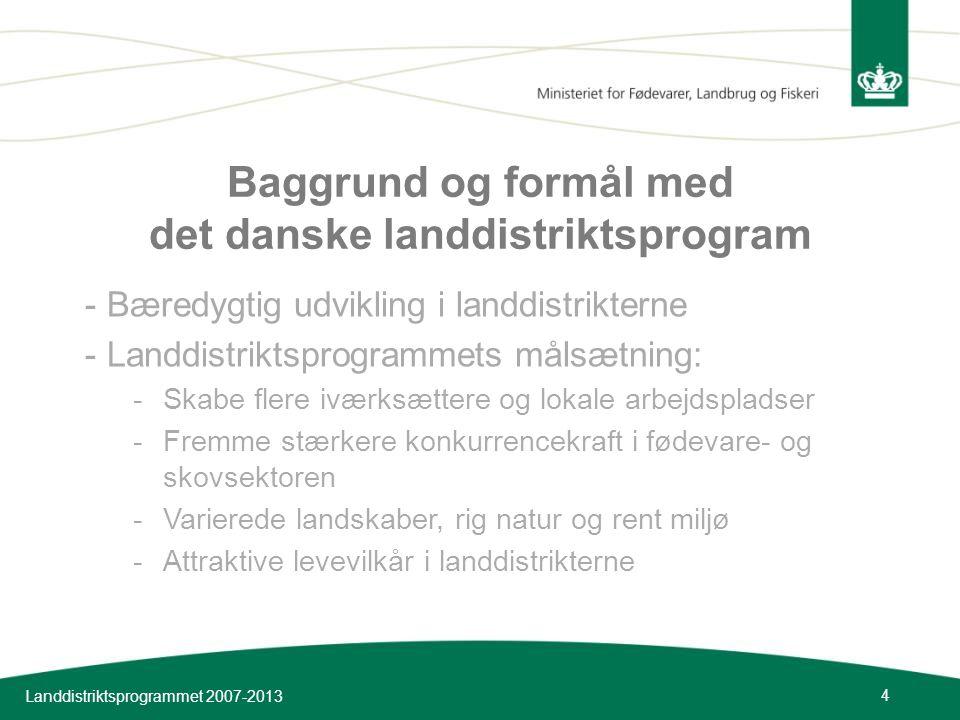 Baggrund og formål med det danske landdistriktsprogram