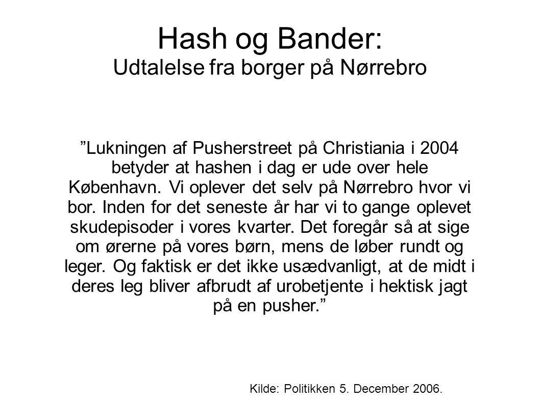 Hash og Bander: Udtalelse fra borger på Nørrebro