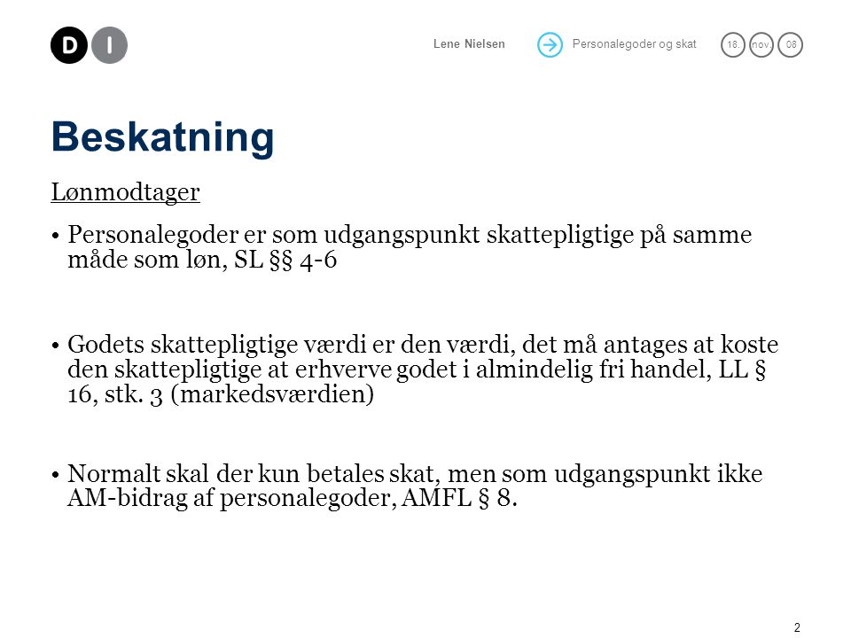 Personalegoder og skat - ppt download
