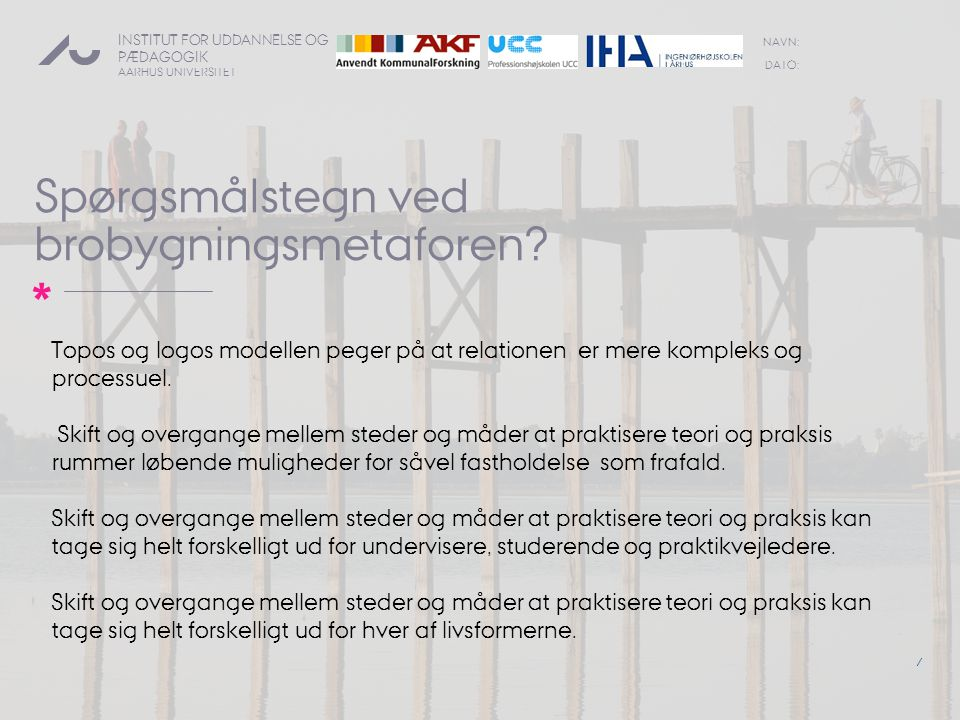 Spørgsmålstegn ved brobygningsmetaforen