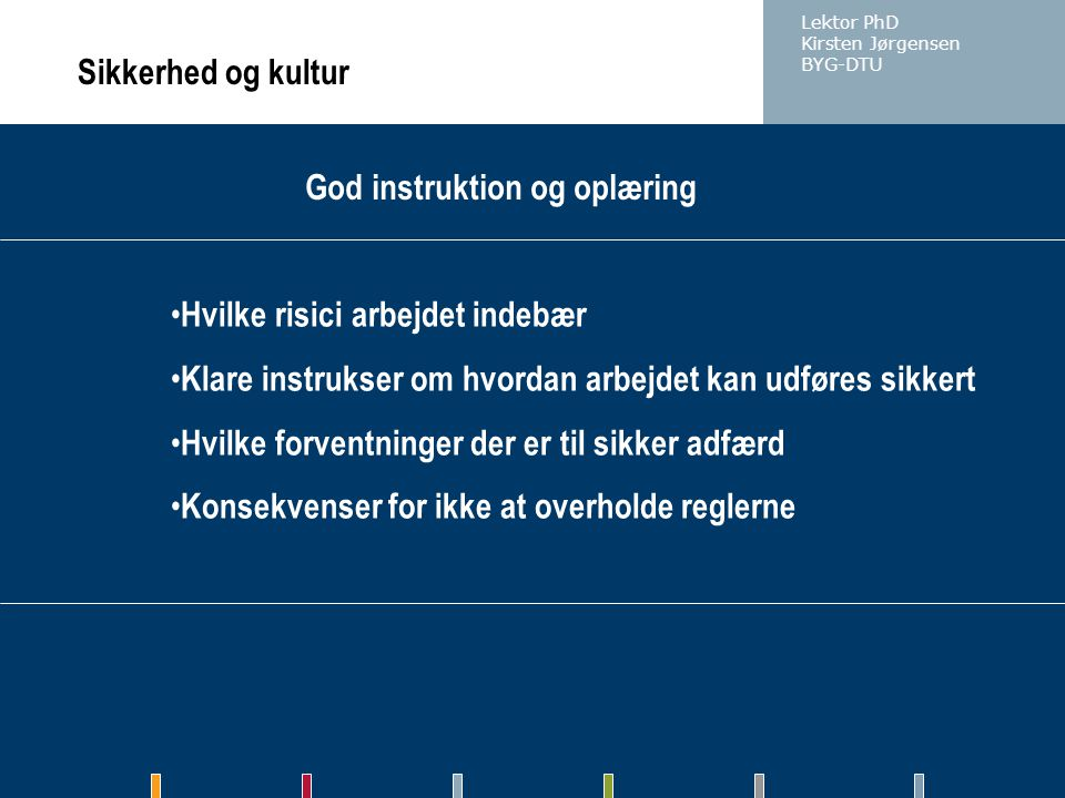 God instruktion og oplæring