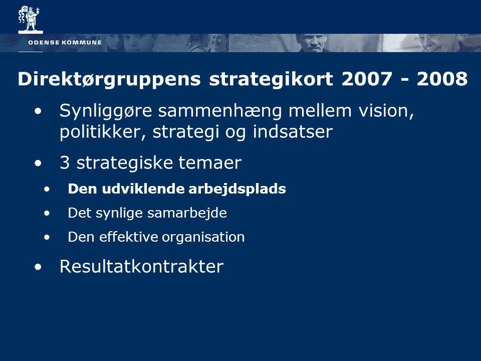 Direktørgruppens strategikort 2007 - 2008
