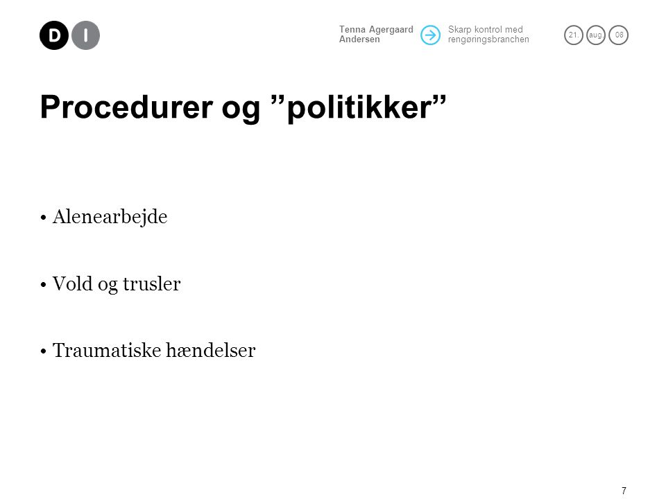 Procedurer og politikker
