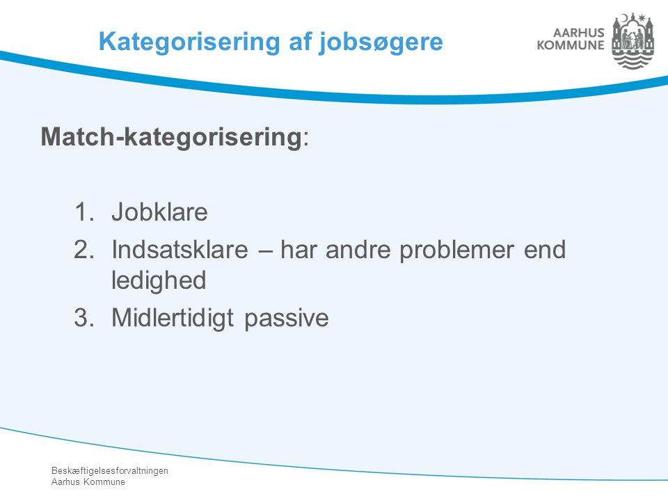 Kategorisering af jobsøgere