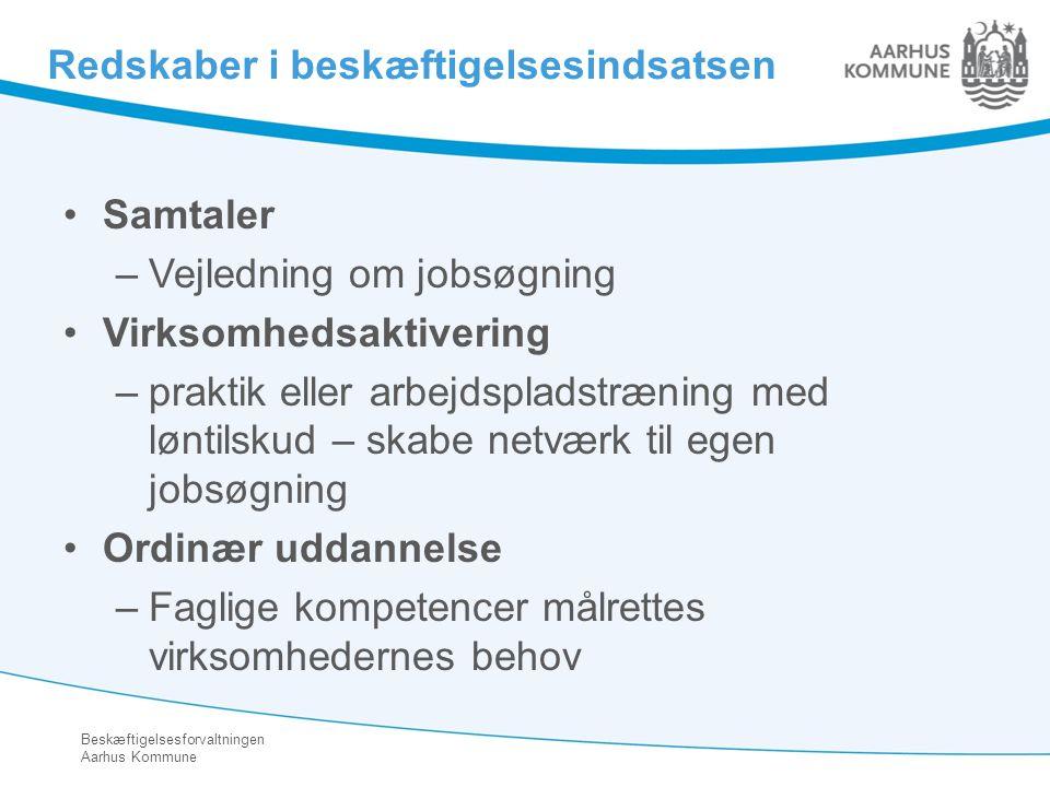 Redskaber i beskæftigelsesindsatsen