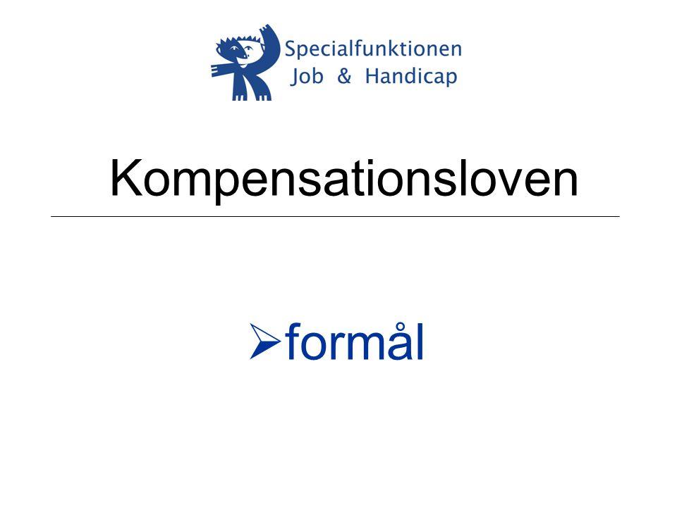 Kompensationsloven formål