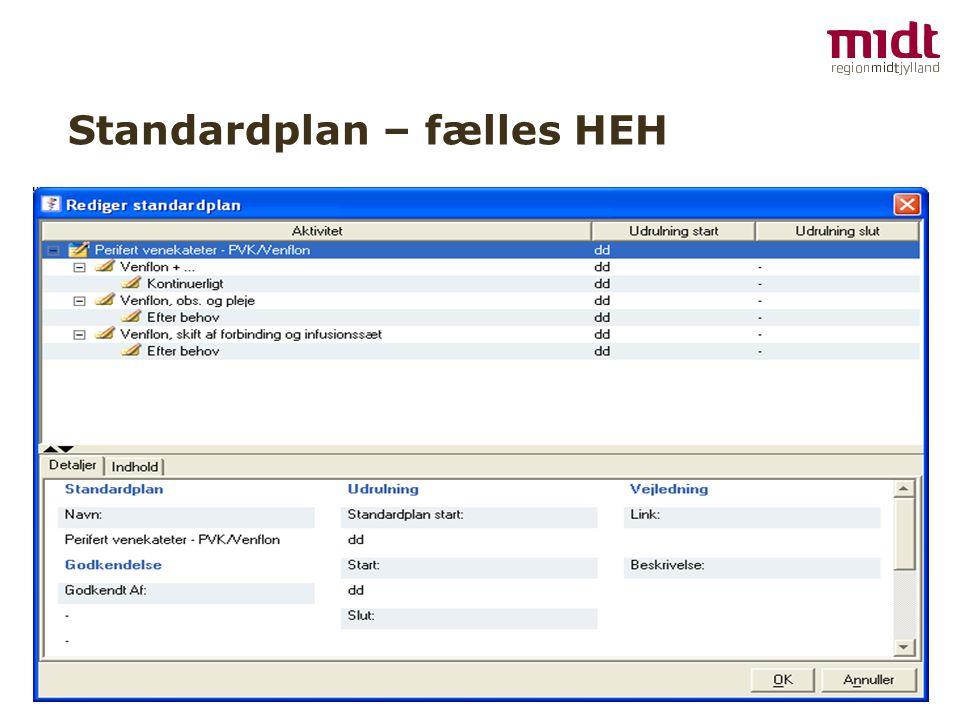 Standardplan – fælles HEH