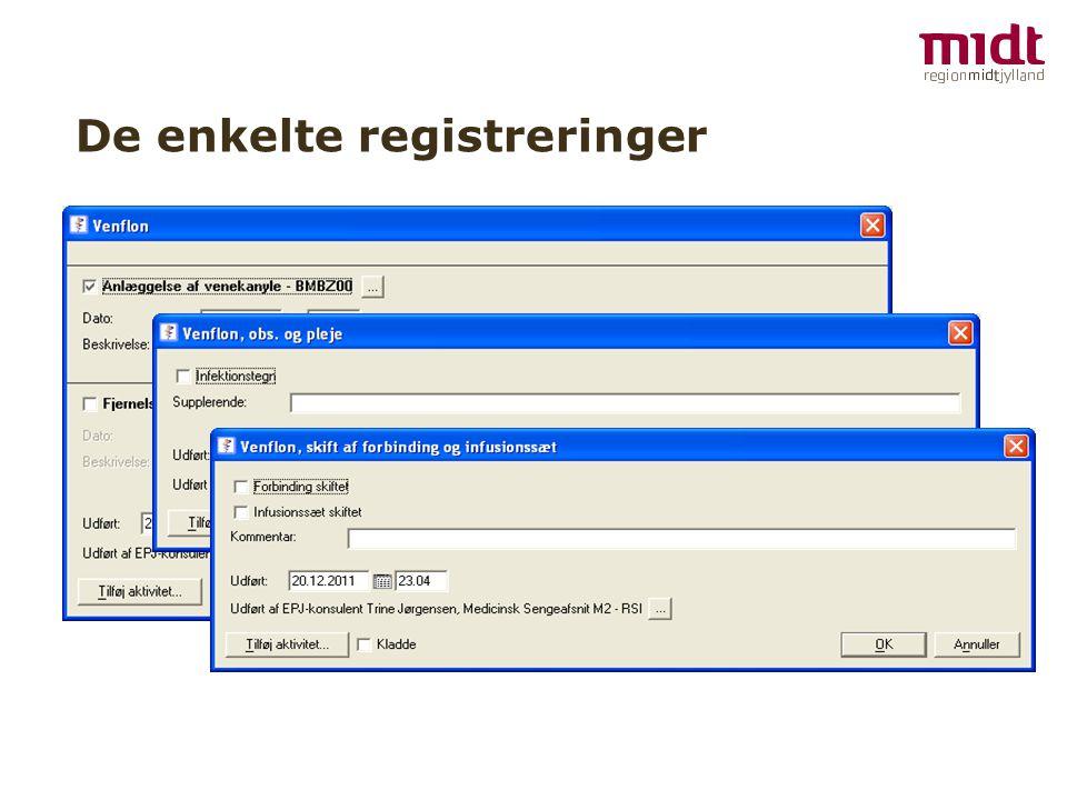 De enkelte registreringer