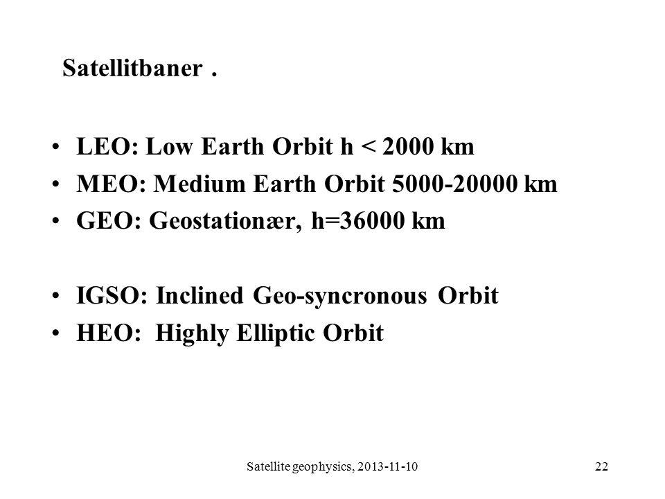 Satellite geophysics, 2013-11-10