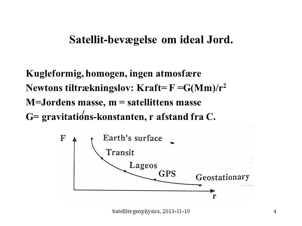 Satellit-bevægelse om ideal Jord.