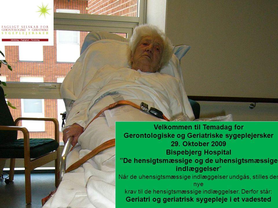 Velkommen til Temadag for Gerontologiske og Geriatriske sygeplejersker
