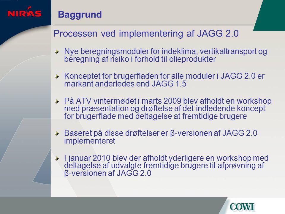 Processen ved implementering af JAGG 2.0