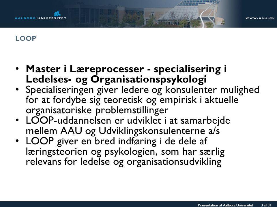 LOOP Master i Læreprocesser - specialisering i Ledelses- og Organisationspsykologi.