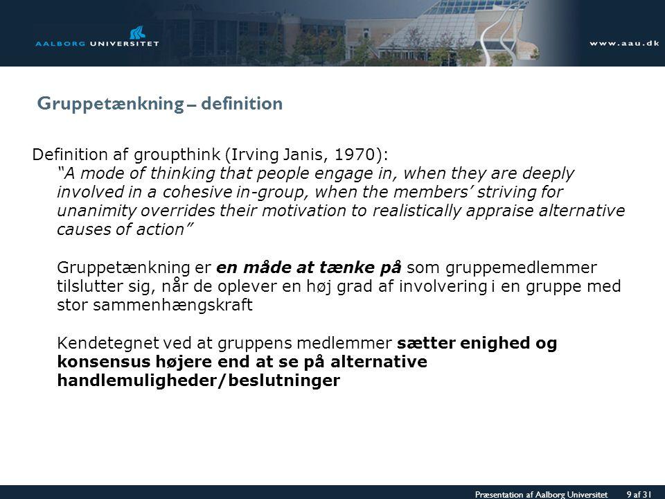 Gruppetænkning – definition