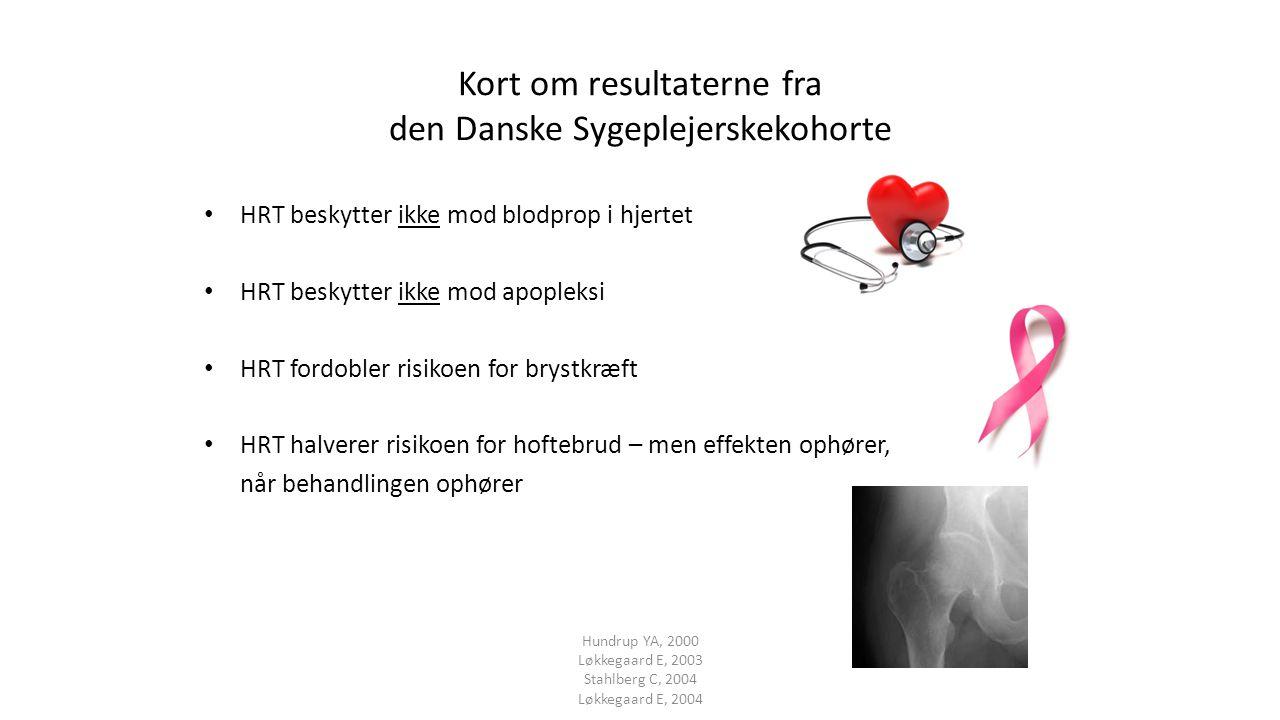 Kort om resultaterne fra den Danske Sygeplejerskekohorte