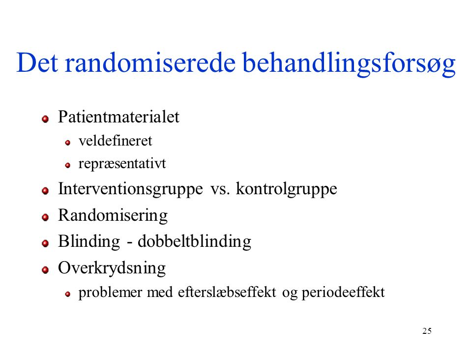 Det randomiserede behandlingsforsøg