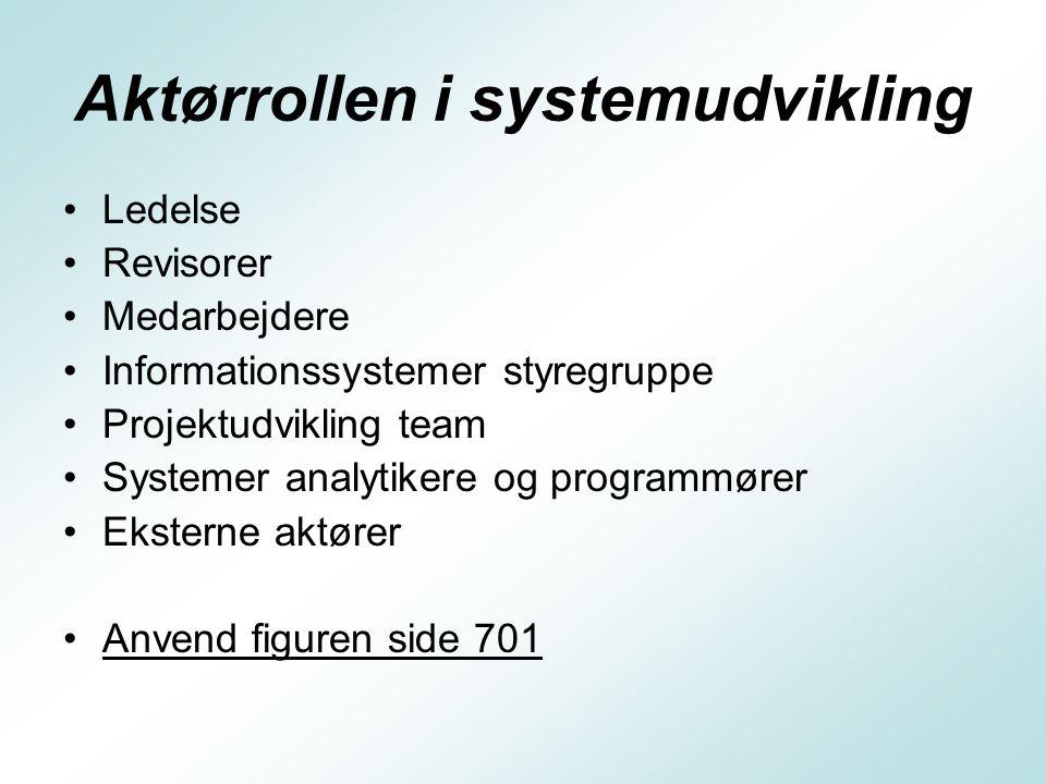 Aktørrollen i systemudvikling