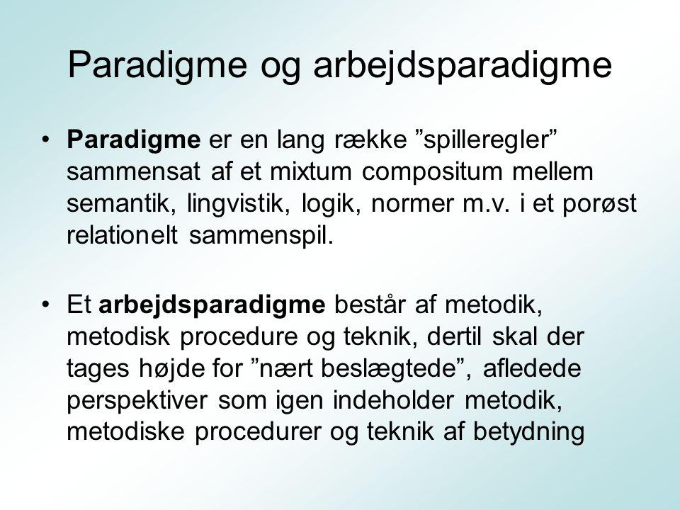 Paradigme og arbejdsparadigme