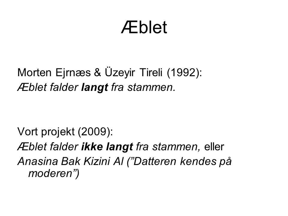 Æblet Morten Ejrnæs & Üzeyir Tireli (1992):