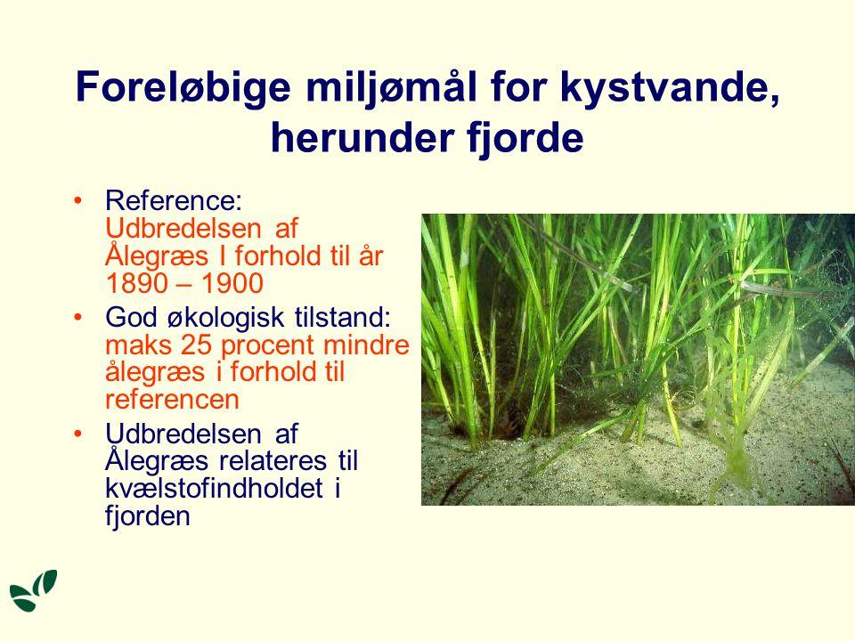 Foreløbige miljømål for kystvande, herunder fjorde
