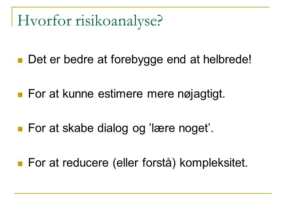 Hvorfor risikoanalyse
