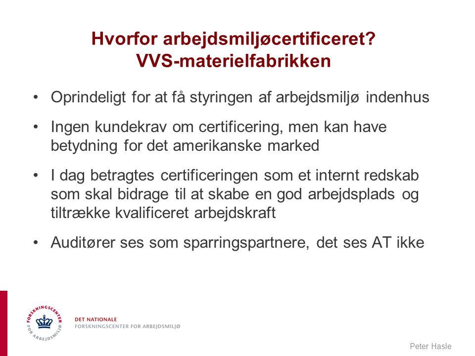 Hvorfor arbejdsmiljøcertificeret VVS-materielfabrikken