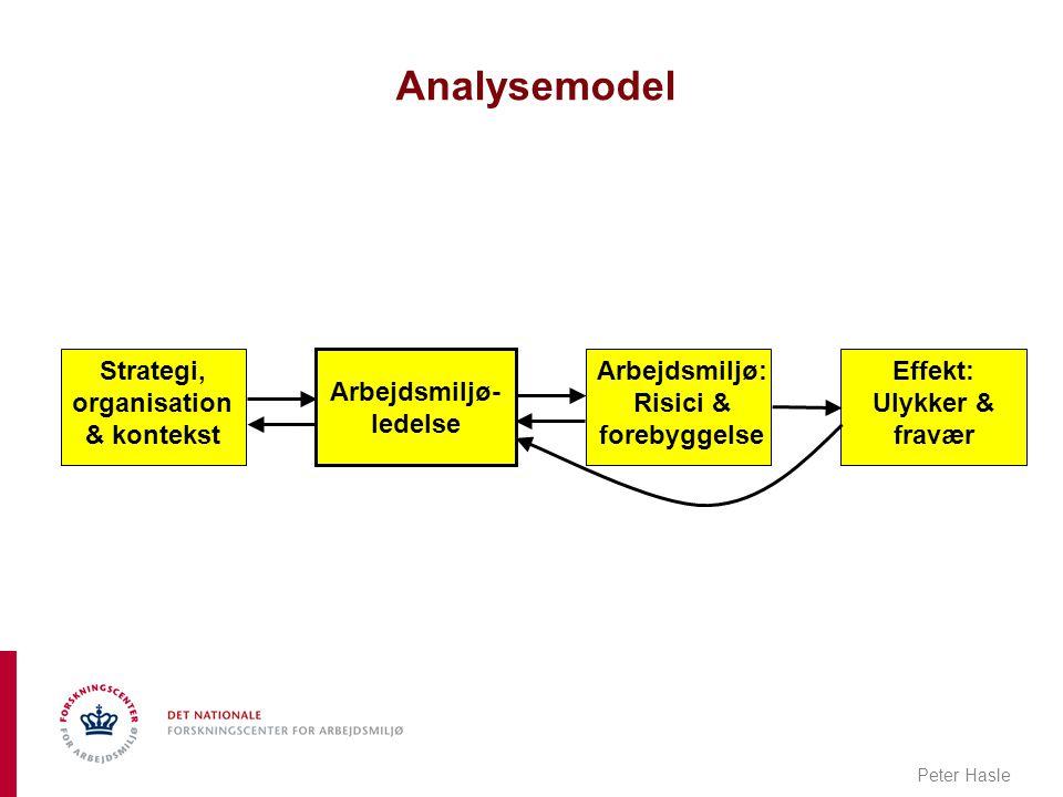 Analysemodel Strategi, organisation & kontekst Arbejdsmiljø- ledelse
