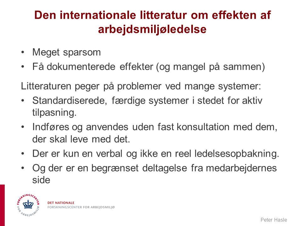 Den internationale litteratur om effekten af arbejdsmiljøledelse