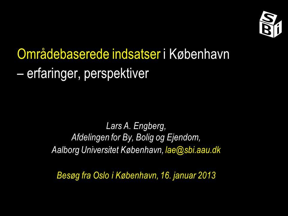 Områdebaserede indsatser i København – erfaringer, perspektiver