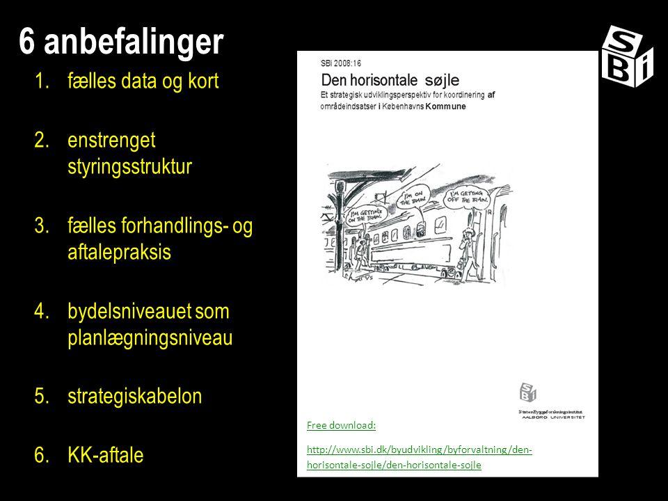 6 anbefalinger fælles data og kort enstrenget styringsstruktur