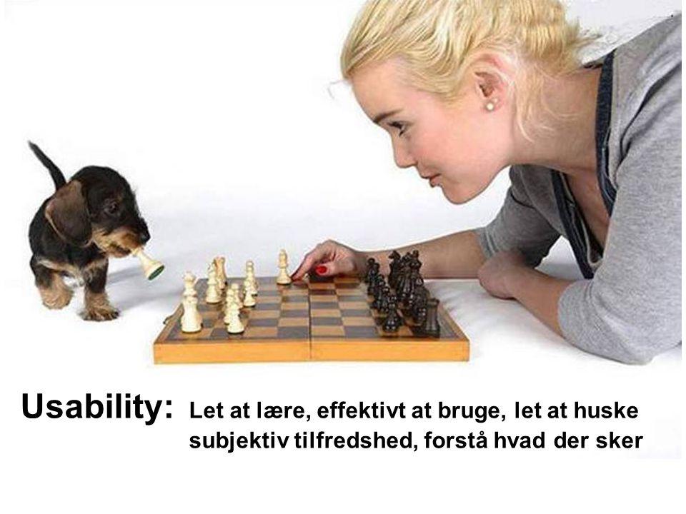 Usability: Let at lære, effektivt at bruge, let at huske