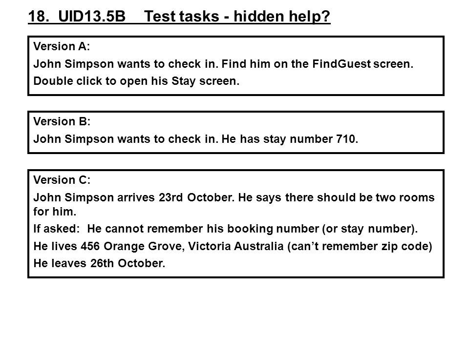 18. UID13.5B Test tasks - hidden help