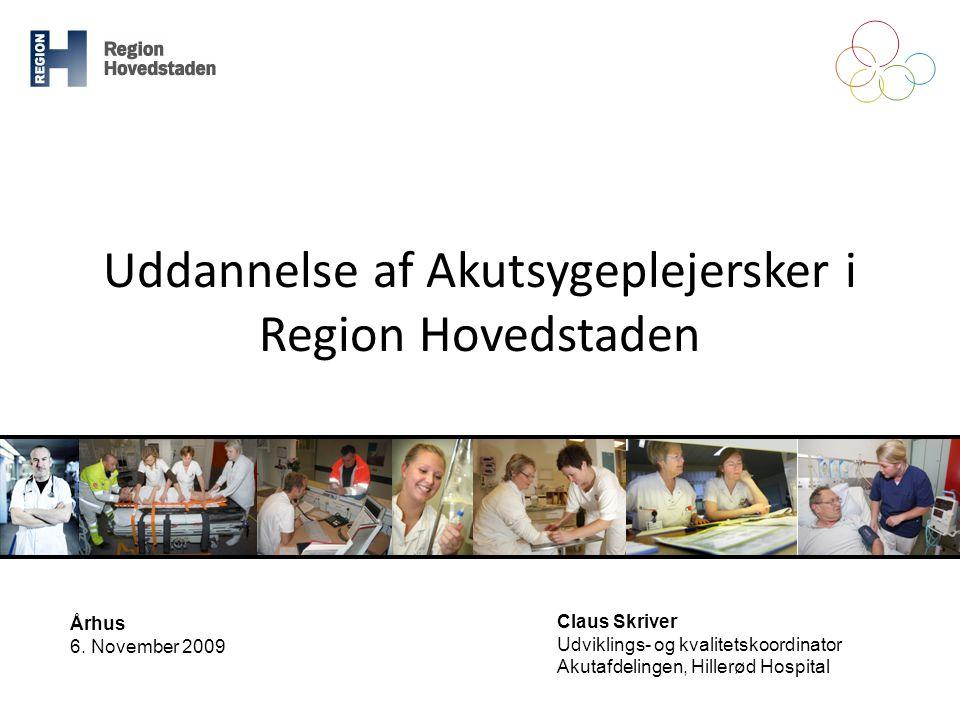 Uddannelse af Akutsygeplejersker i Region Hovedstaden