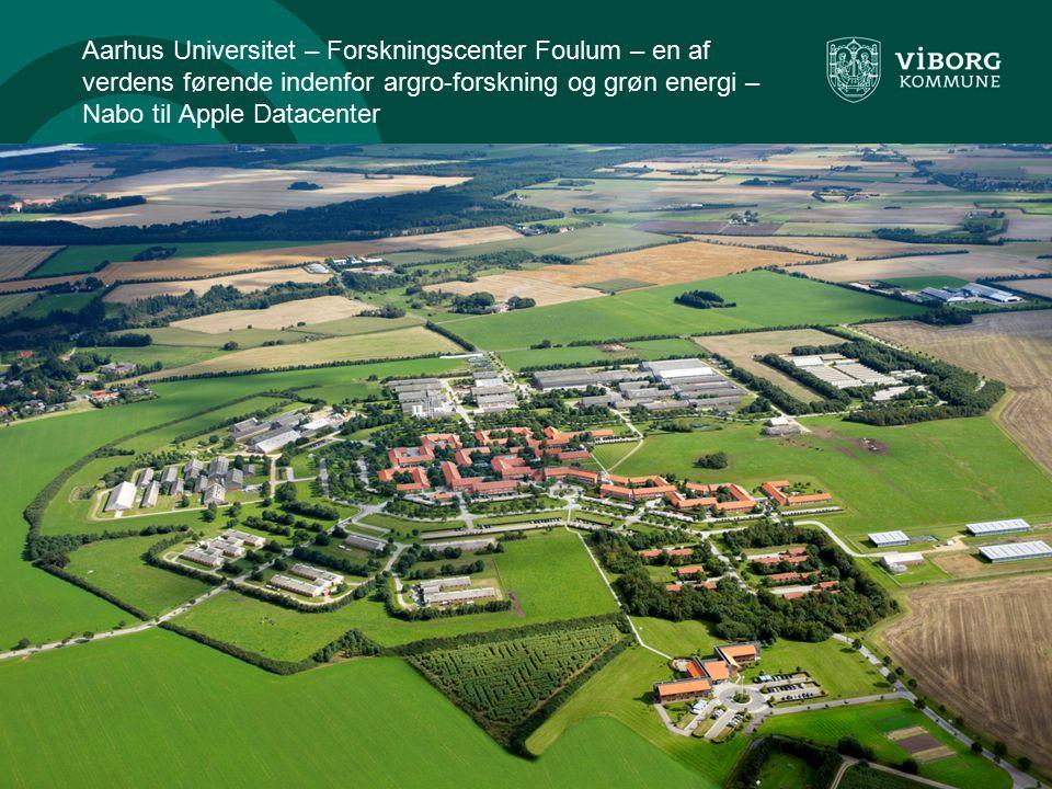 Aarhus Universitet – Forskningscenter Foulum – en af verdens førende indenfor argro-forskning og grøn energi – Nabo til Apple Datacenter