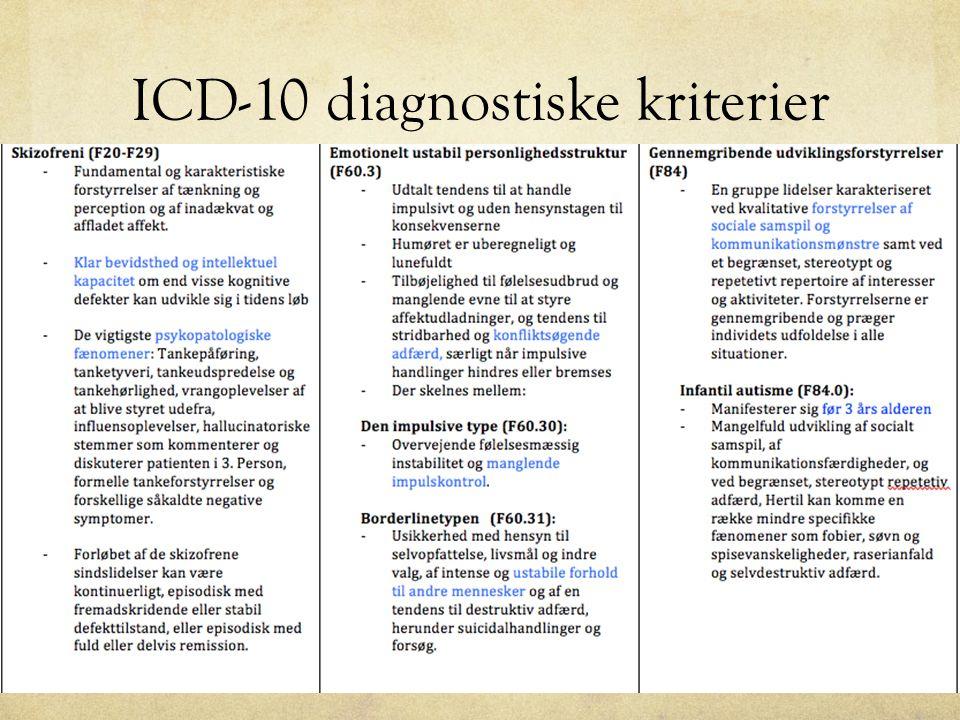 ICD-10 diagnostiske kriterier