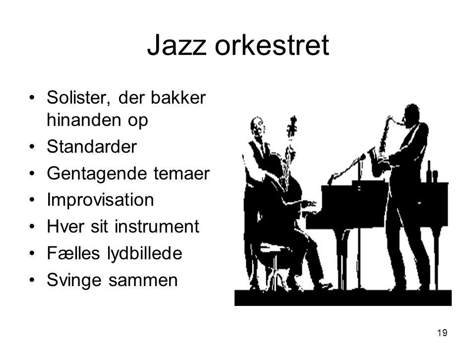 Jazz orkestret Solister, der bakker hinanden op Standarder