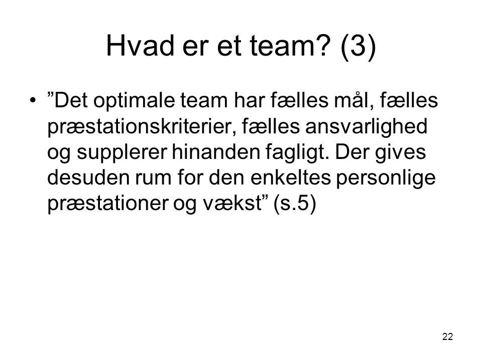 Hvad er et team (3)