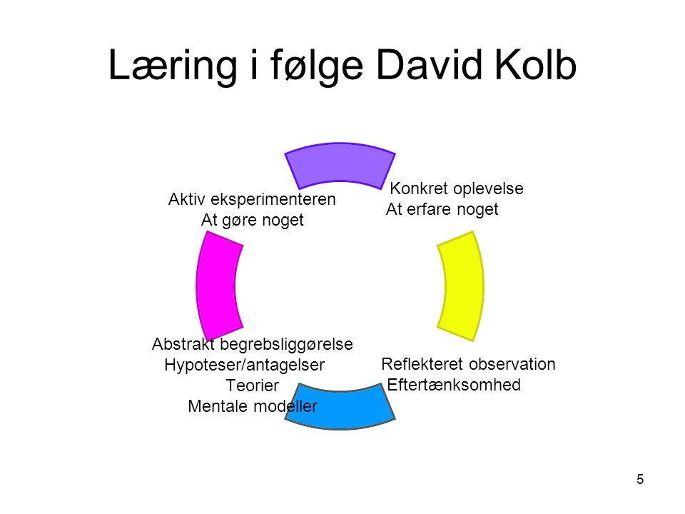 Læring i følge David Kolb