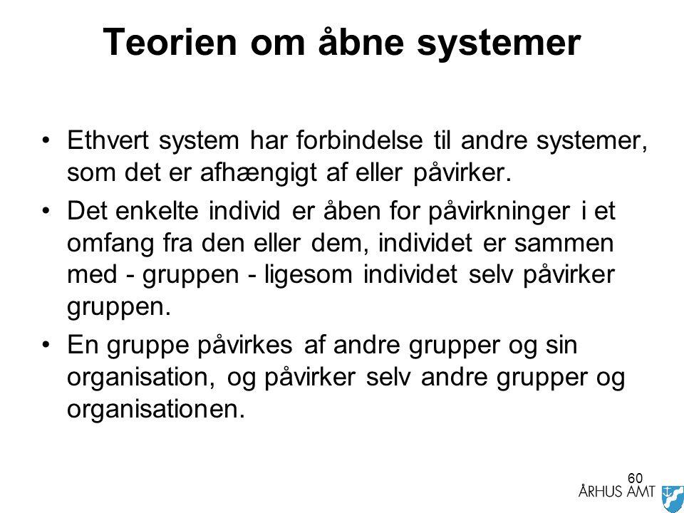 Teorien om åbne systemer