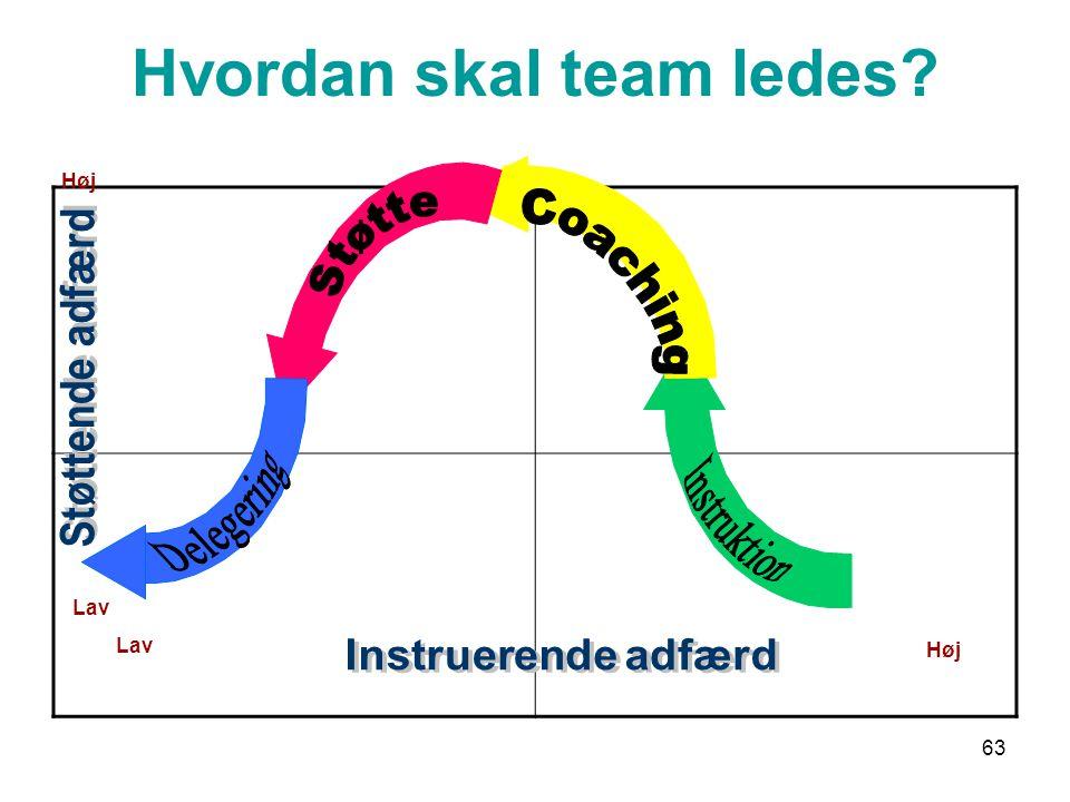Hvordan skal team ledes