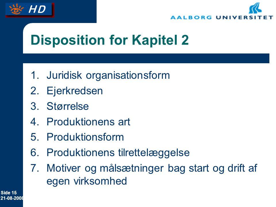 Disposition for Kapitel 2